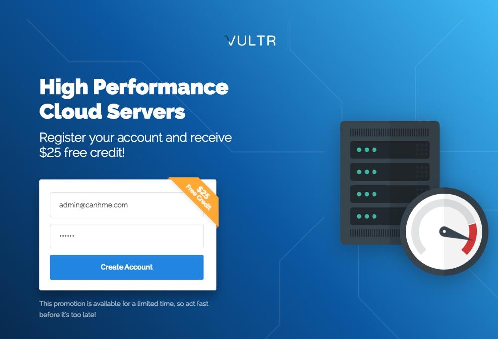 Khuyến mại tặng 25$ Free của Vultr đã quay trở lại, đăng ký ngay